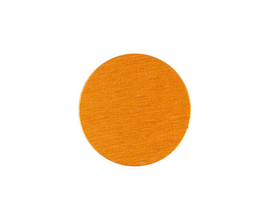Lillypilly Orange Anodized Aluminum Disc 19mm, 24 gauge