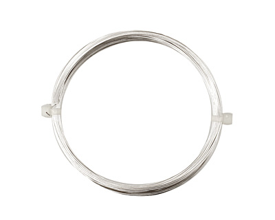 German Style Wire Silver (plated) Round 24 gauge, 12 meters