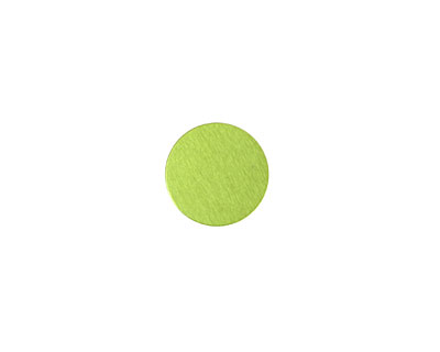 Lillypilly Lime Green Anodized Aluminum Disc 11mm, 24 gauge