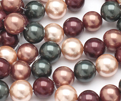 Cordial Shell Pearl Mix Round 10mm
