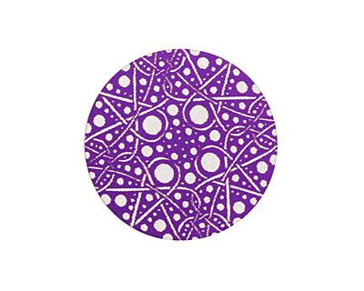 Lillypilly Purple Geometrics Anodized Aluminum Disc 25mm, 24 gauge