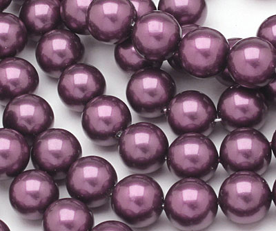 Eggplant Shell Pearl Round 10mm