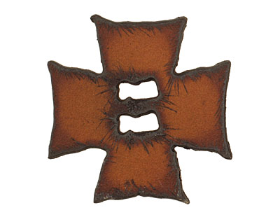 The Lipstick Ranch Rusted Iron Square Cross Button 40mm