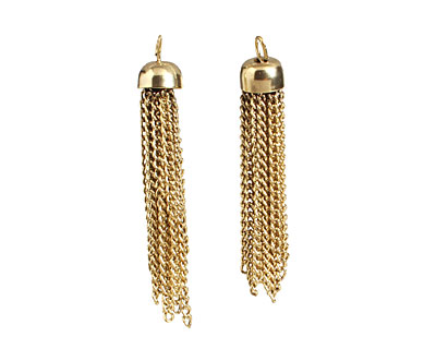 Antique Gold (plated) Chain Tassel 8x48-50mm