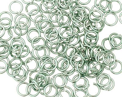 Seafoam Anodized Aluminum Jump Ring (Saw Cut) 6mm, 20 g (4.1mm inside diameter)
