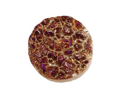 Druzy (metallic purple) Round Cabochon 25mm