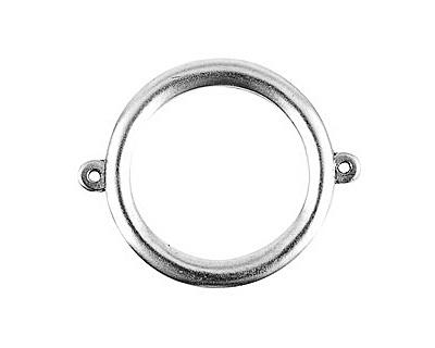 Nunn Design Antique Silver (plated) Grande Circle Connector 37x30mm