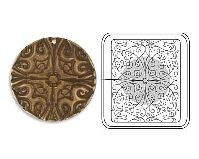 Vintaj DecoEtch Die Baroque Filigree 2 3/8