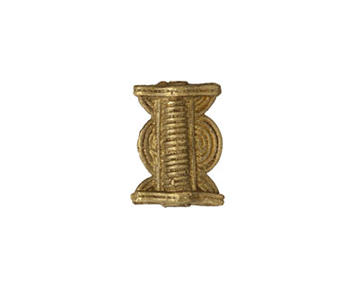 African Brass Drum (large hole) 25-30x16-20mm