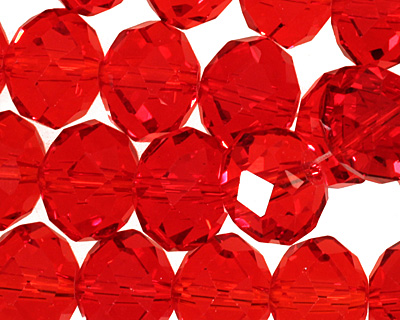 Siam Ruby Crystal Faceted Rondelle 14mm