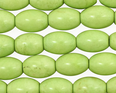 Apple Green Turquoise Rice 14x10mm