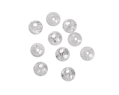 Crystal Clear Faceted Round 6mm