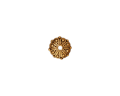 TierraCast Antique Gold (plated) Oasis Rondelle 3x8mm