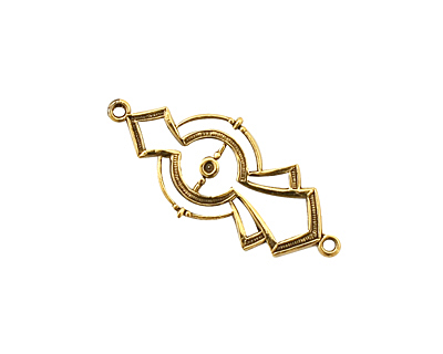 Stampt Antique Gold (plated) Half Past Midnight Deco Link 29x13mm