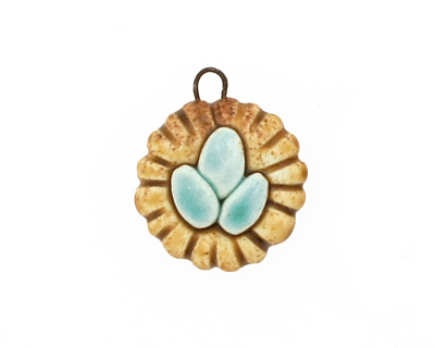 Earthenwood Studio Ceramic Birdnest Charm 17x20mm