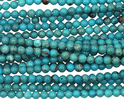Chinese Turquoise Round 3mm