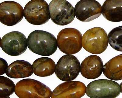 African Green Opal Tumbled Nugget 8-12x7-10mm