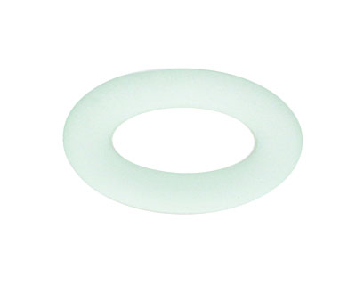 Seafoam Recycled Glass Oval Ring 31x19mm