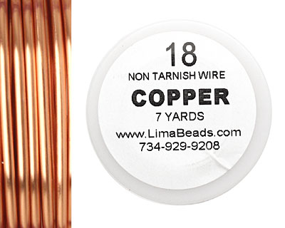 Parawire Non-Tarnish Copper 18 gauge, 7 yards