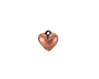 Nunn Design Antique Copper (plated) Small Heart Charm 11x12mm