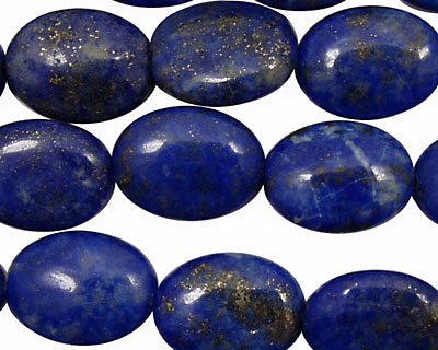 Lapis Flat Oval 16x12mm