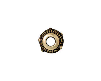 TierraCast Antique Brass (plated) Spiral Euro 6x12mm