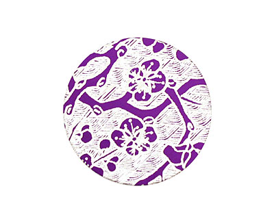 Lillypilly Purple Cherry Blossom Anodized Aluminum Disc 25mm, 24 gauge