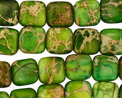Green Impression Jasper Puff Square 10mm