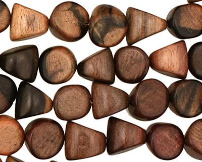 Ebony Wood Triangle 10mm