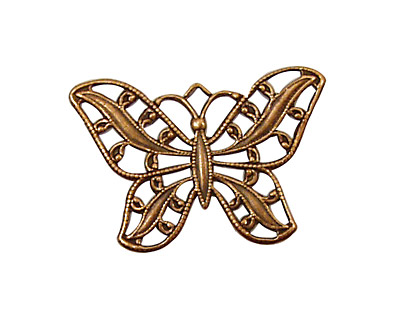 Stampt Antique Copper (plated) Filigree Butterfly 30x22mm