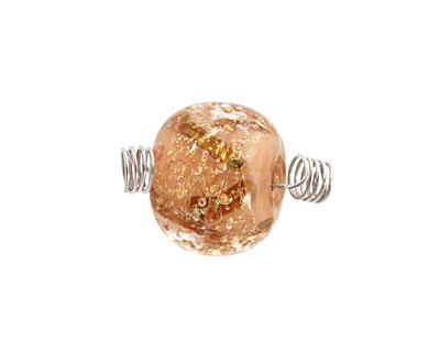 Unicorne Beads Sorcerers Stone w/ Copper Rondelle 16x20mm