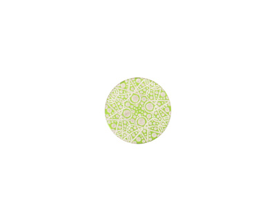 Lillypilly Lime Green Geometrics Anodized Aluminum Disc 11mm, 24 gauge