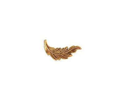 Nunn Design Antique Gold (plated) Leaf Toggle Bar 20x7mm