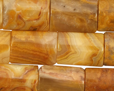 Crazy Lace Agate (yellow) Thin Pillow 18x13mm
