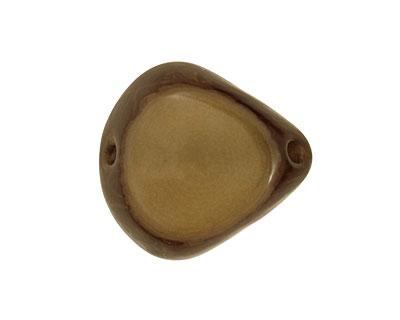 Tagua Nut Olive Banana Chip 22-29x16-22mm