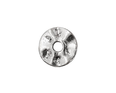 Pewter Small Wavy Washer 2x16mm