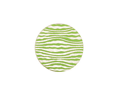 Lillypilly Lime Green Zebra Anodized Aluminum Disc 19mm, 24 gauge