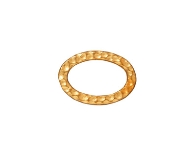 TierraCast Gold (plated) Hammertone Oval Ring 18x12mm