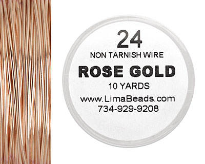 Parawire Rose Gold 24 gauge, 10 yards