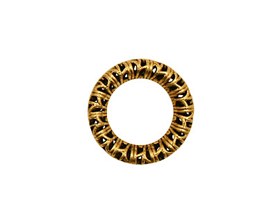 Stampt Antique Gold (plated) Filigree Wreath 17mm