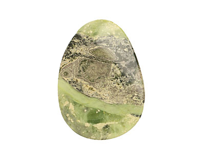 China Mountain Green Jade Freeform Large Cabochon 40-50x50-60mm