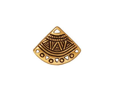 TierraCast Antique Gold (plated) Ethnic Fan Chandelier 15x19mm