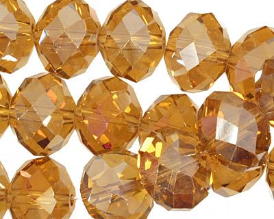 Topaz AB Crystal Faceted Rondelle 14mm