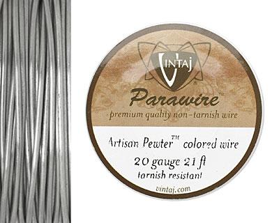 Vintaj Pewter Parawire 20 gauge, 21 feet