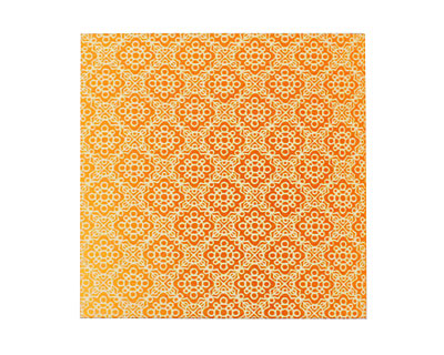 Lillypilly Orange Doily Anodized Aluminum Sheet 3