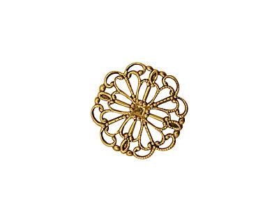 Stampt Antique Gold (plated) Wildflower Filigree 15mm