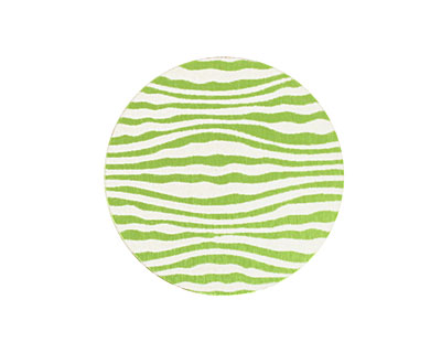 Lillypilly Lime Green Zebra Anodized Aluminum Disc 25mm, 24 gauge