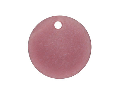 Medium Amethyst Recycled Glass Concave Coin 24mm
