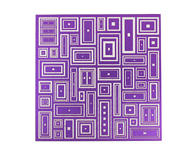 Lillypilly Purple Deco Rectangle Anodized Aluminum Sheet 3