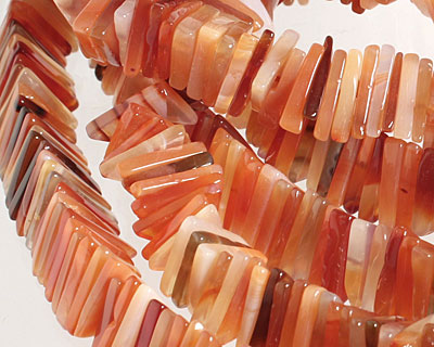Carnelian (natural) Triangular Heishi 12mm